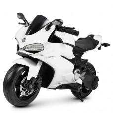 Детский мотоцикл Bambi M 4262 EL-1 Ducati, белый