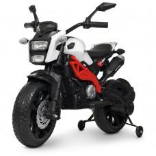 Детский мотоцикл Bambi M 4267 EL-1-3 Harley Davidson, бело-красный