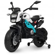 Детский мотоцикл Bambi M 4267 EL-1-4 Harley Davidson, бело-синий