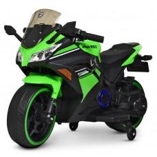 Детский мотоцикл Bambi M 4268 L-5 Kawasaki Ninja, зеленый