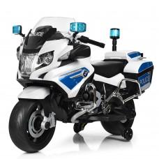 Детский мотоцикл Bambi Z212-1 Police, белый