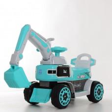 Детский электромобиль каталка толокар Bambi M 4068R-4 Экскаватор, голубой