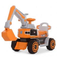Детский электромобиль каталка толокар Bambi M 4068R-7 Экскаватор, оранжевый