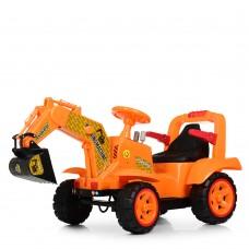 Детский электромобиль Трактор Bambi M 4142 L-7, оранжевый