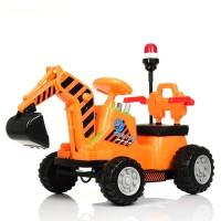Детский электромобиль Трактор Bambi M 4143 L-7, оранжевый