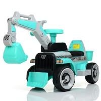 Детский электромобиль Трактор Bambi M 4144 L-4, бирюзовый