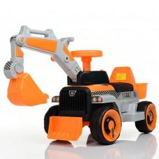 Детский электромобиль Трактор Bambi M 4144 L-7, оранжевый