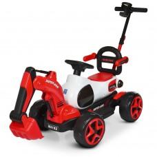 Детский электромобиль Трактор Bambi M 4192-3, красный