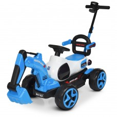 Детский электромобиль Трактор Bambi M 4192-4, синий