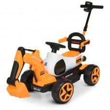 Детский электромобиль Трактор Bambi M 4192-7, оранжевый