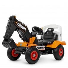Детский электромобиль Трактор Bambi M 4260 ABLR-7, оранжевый