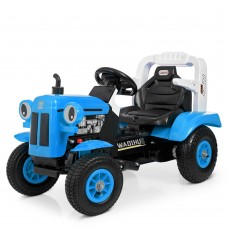 Детский электромобиль Трактор Bambi M 4261 ABLR(2)-4, синий