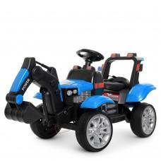 Детский электромобиль Трактор Bambi M 4263 EBLR-4, синий