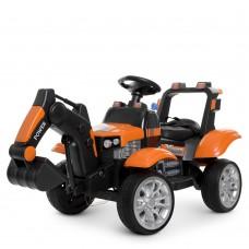 Детский электромобиль Трактор Bambi M 4263 EBLR-7, оранжевый