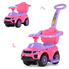 Детская машинка каталка толокар Bambi HZ614W-8, розовый