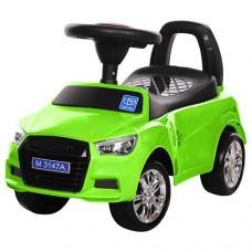 Детская машинка каталка толокар Bambi M 3147A-5 Audi, зеленый
