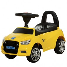 Детская машинка каталка толокар Bambi M 3147A-6 Audi, желтый