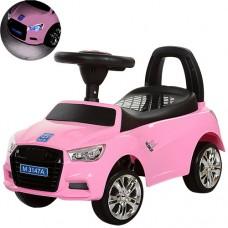 Детская машинка каталка толокар Bambi M 3147A-8 Audi, розовый