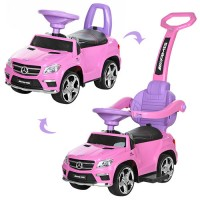 Детская машинка каталка толокар Bambi M 3186 L-8 Mercedes, розовый