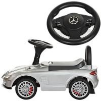 Детская машинка каталка толокар Bambi M 3189S-11 Mercedes, серебристый