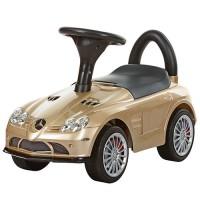 Детская машинка каталка толокар Bambi M 3189S-13 Mercedes, золотой