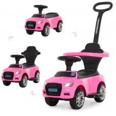 Детская машинка каталка толокар Bambi M 3503A(MP3)-8, розовый