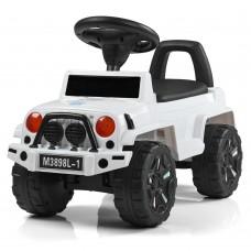 Детская каталка-толокар Bambi M 3898 L-1 Jeep, белый