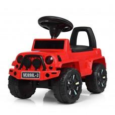 Детская каталка-толокар Bambi M 3898 L-3 Jeep, красный