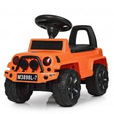 Детская каталка-толокар Bambi M 3898 L-7 Jeep, оранжевый