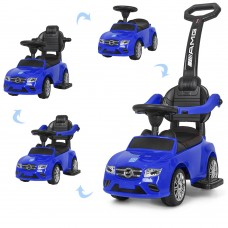Детская машинка каталка толокар Bambi M 3902 L-4 Mercedes, синий