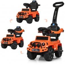 Детская каталка-толокар Bambi M 4128 L-7 Jeep, оранжевый