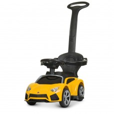 Детский электромобиль каталка толокар Bambi M 4316 L-6 Lamborghini, желтый