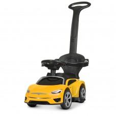 Детский электромобиль каталка толокар Bambi M 4318 L-6 Tesla, желтый