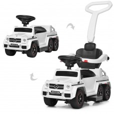Детский электромобиль каталка-толокар Bambi SXZ1838-WHITE Mercedes, белый