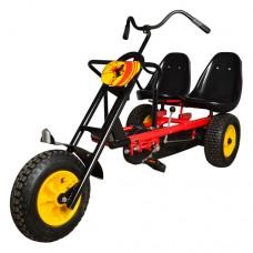 Веломобиль-трицикл PROFI М 1506-3 Chopper, двухместный, черно-красный