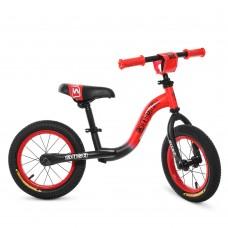Беговел детский Profi Kids W1201-5, черно-красный