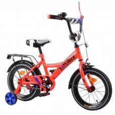 Велосипед детский двухколесный Tilly T-21417 Explorer, 14 дюймов, красный