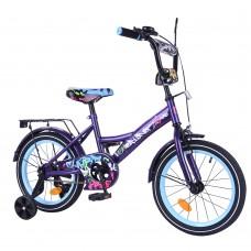 Велосипед детский двухколесный Tilly T-216115 Explorer, 16 дюймов, фиолетовый