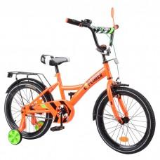 Велосипед детский двухколесный Tilly T-218110 Explorer, 18 дюймов, оранжевый