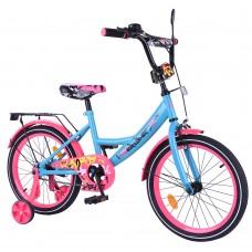 Велосипед детский двухколесный Tilly T-218113 Explorer, 18 дюймов, розово-голубой