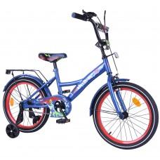 Велосипед детский двухколесный Tilly T-218114 Explorer, 18 дюймов, синий
