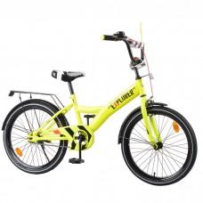 Велосипед детский двухколесный Tilly T-220112 Explorer, 20 дюймов, желтый