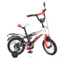 Велосипед детский двухколесный PROFI G1255 Inspirer, 12 дюймов, черно-белый
