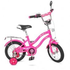 Велосипед детский двухколесный для девочек PROFI L1292 Star, 12 дюймов, розовый