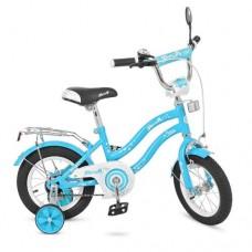 Велосипед детский двухколесный PROFI L1294 Star, 12 дюймов, голубой