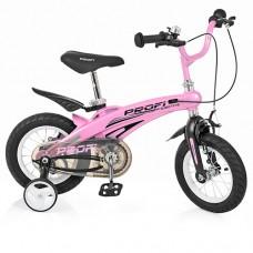 Велосипед детский двухколесный для девочек PROFI LMG12122 Projective, 12 дюймов, розовый