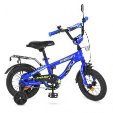 Велосипед детский двухколесный PROFI T12151 Space, 12 дюймов, синий
