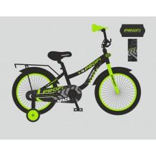 Велосипед детский двухколесный PROFI T12152 Space, 12 дюймов, салатово-черный