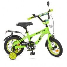 Велосипед детский двухколесный PROFI T12153 Space, 12 дюймов, салатовый