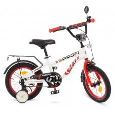 Велосипед детский двухколесный PROFI T12154 Space, 12 дюймов, красно-белый
